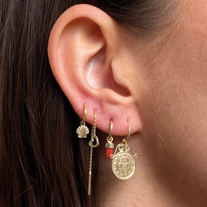 #115 The Puck Chain Earring