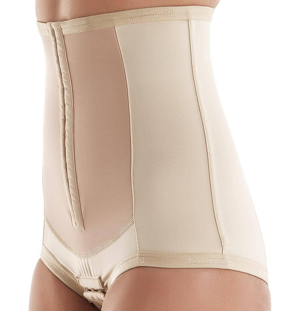 medical postpartum corset with front hooks