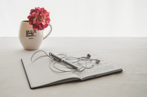 8 ways to pamper yourself journal your feelings and thoughts.