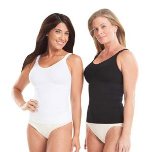 mom-blog-raves-tighty-wifey-compression-tank-top-models-wearing-black-and-white-tighty-wifey-large-image