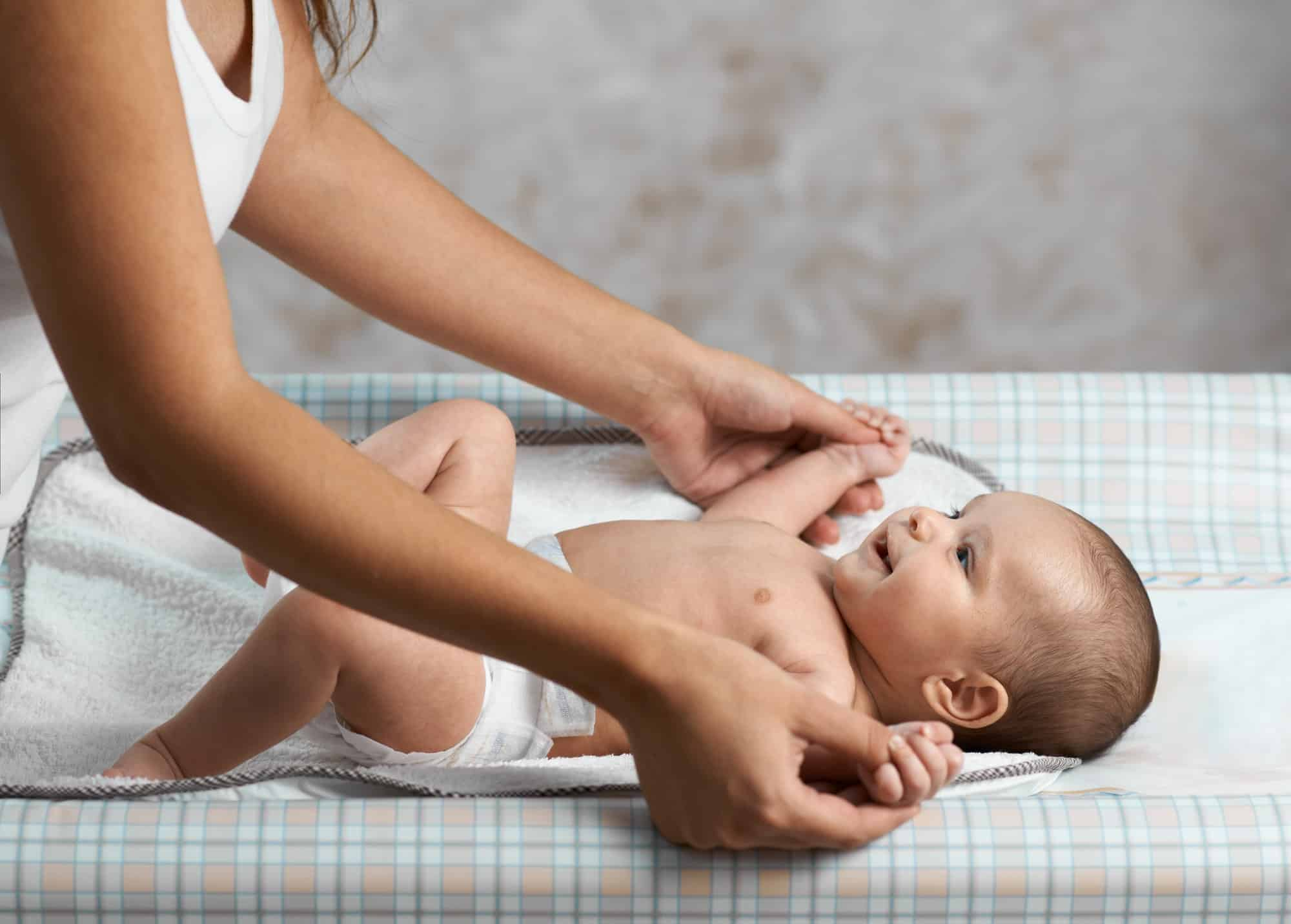 babies getting regular massages have tight skin