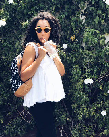 loose tops are the best for dressing during a summer pregnancy.
