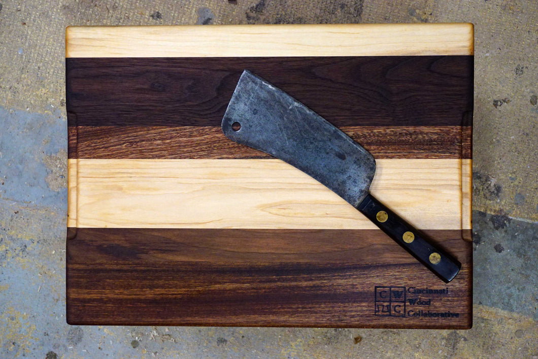 Sapele/Walnut/Maple Cutting Board- 17 1/2