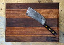 "Sapele/Walnut Cutting Board- 17 1/2"" X 13"""