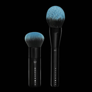 Brushwork Combo 1.1 The Ultimate Liquid Foundation Brush 2.5 Dome Powder Brush