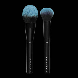 Brushwork Combo 2.5 Dome Powder Brush and 2.2 Blush Brush
