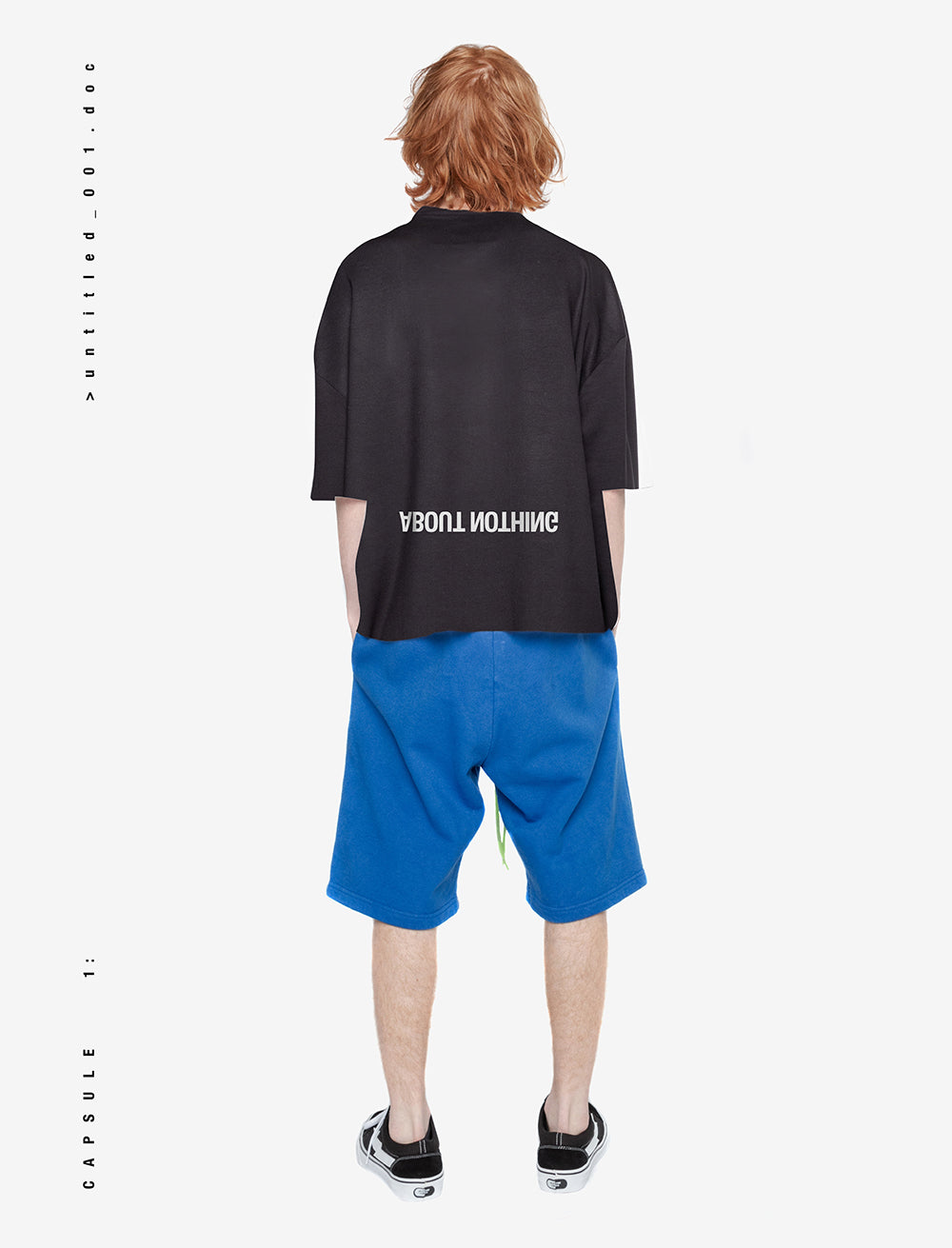 HEAVY OVERSIZED T_SHIRT / LOGO BACK [BLACK]