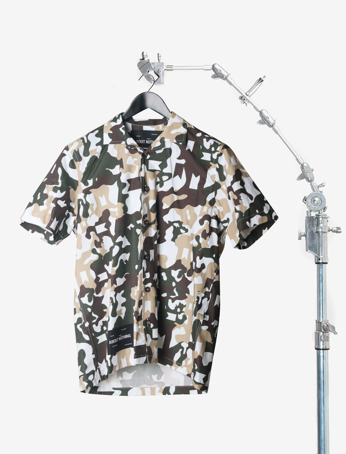 BOWLING SHIRT // GREEN CAMO BIG PATTERN
