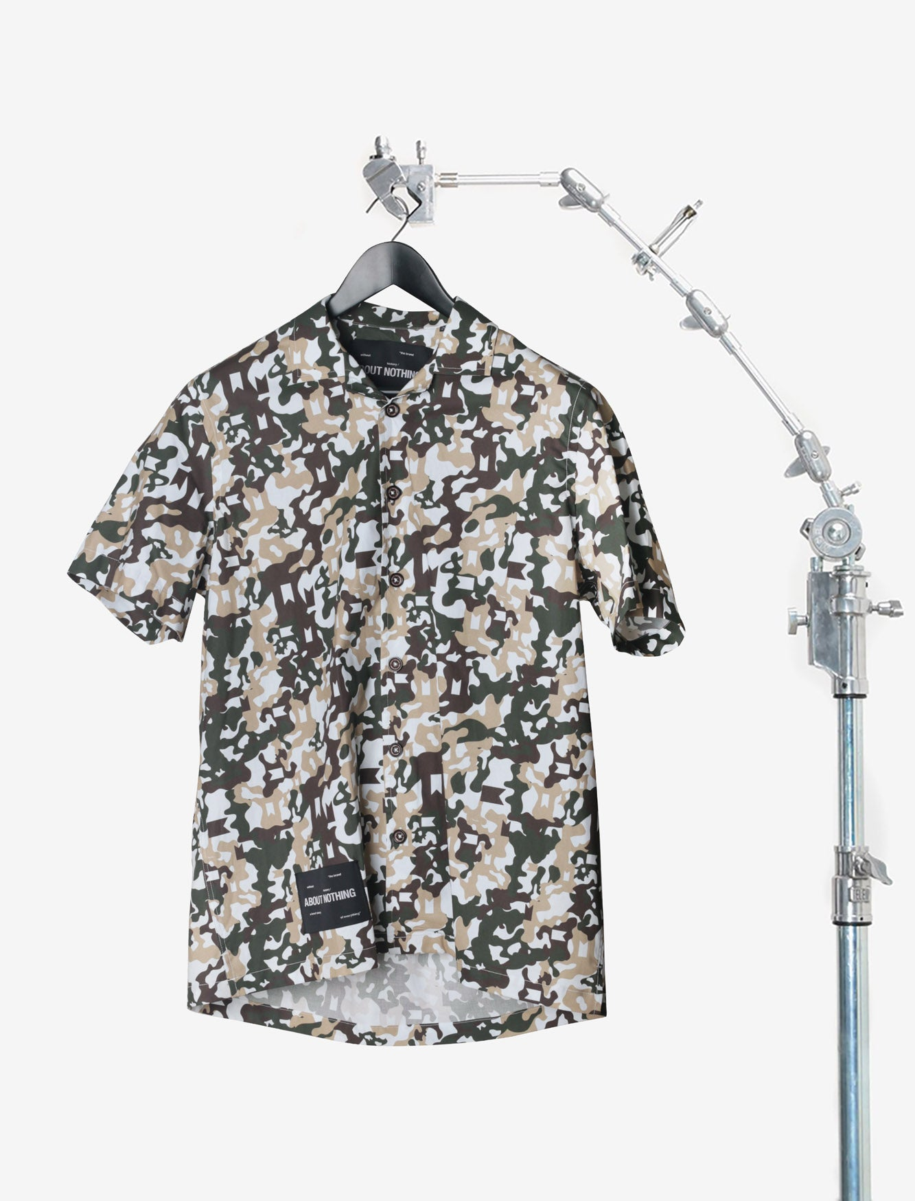 BOWLING SHIRT // GREEN CAMO SMALL PATTERN
