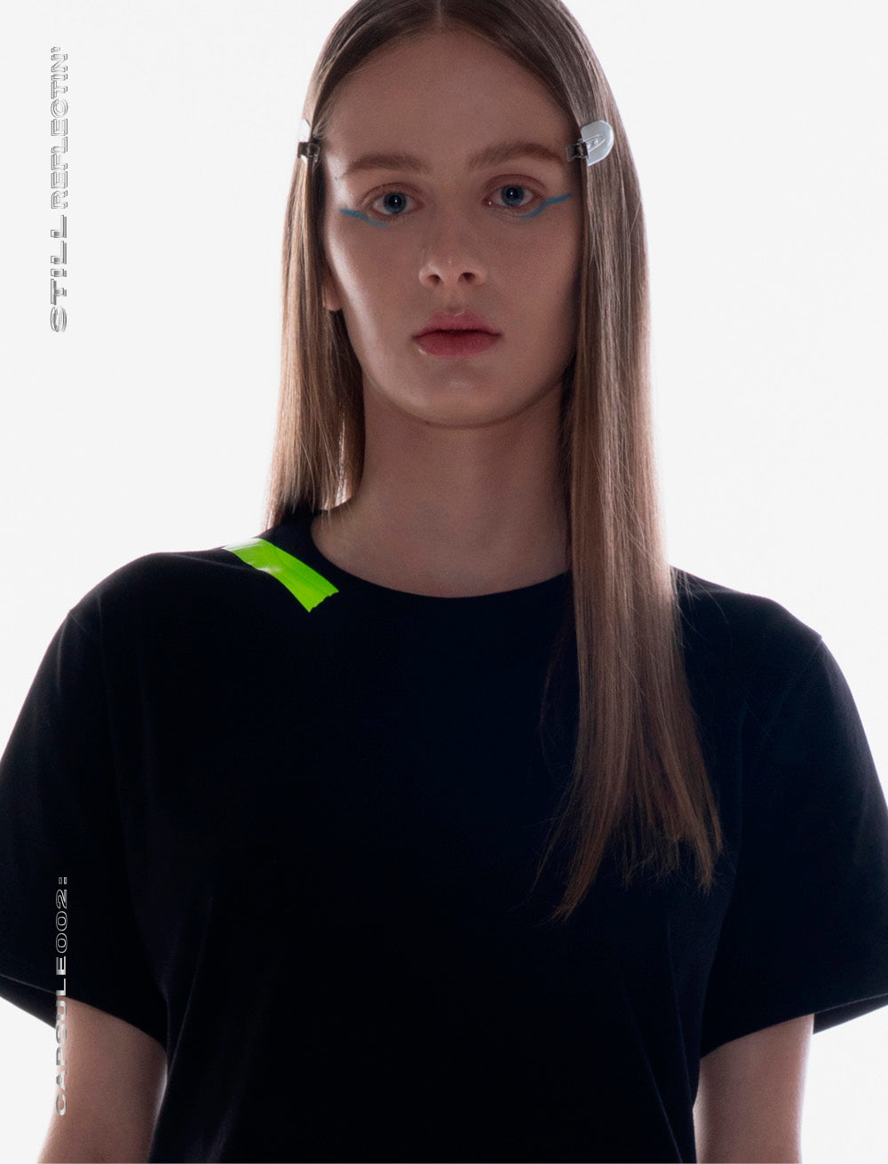 T_SHIRT [BLACK]  //  NEON GREEN TAPE