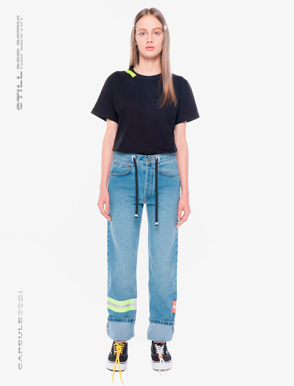 JEANS // NEON REFLECTIVE STRAPS