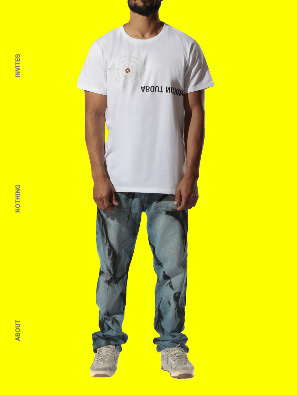 T_SHIRT [WHITE] // ABOUT NOTHING X WORLDXIT