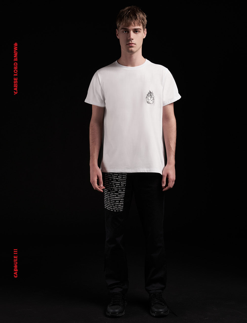 FIRE PATCH T_SHIRT [WHITE]