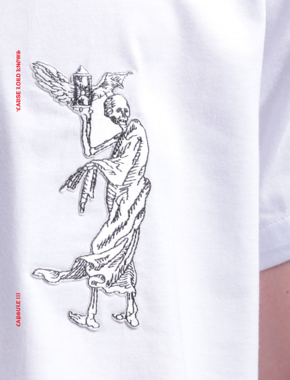 DEATH PATCH T_SHIRT [WHITE]