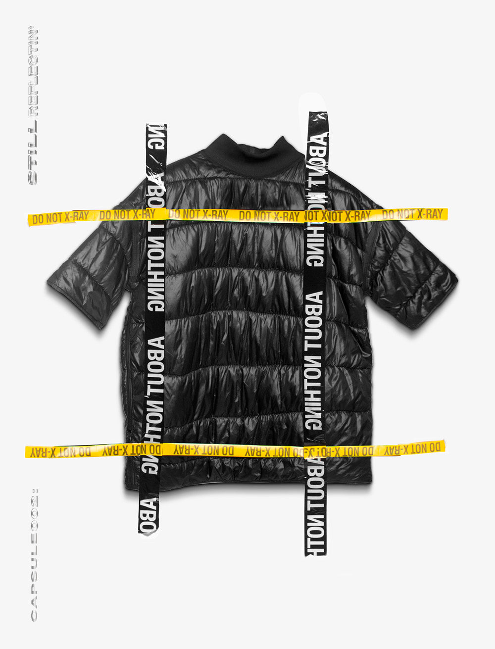NYLON PUFFER  DOUBLE FACE T_SHIRT