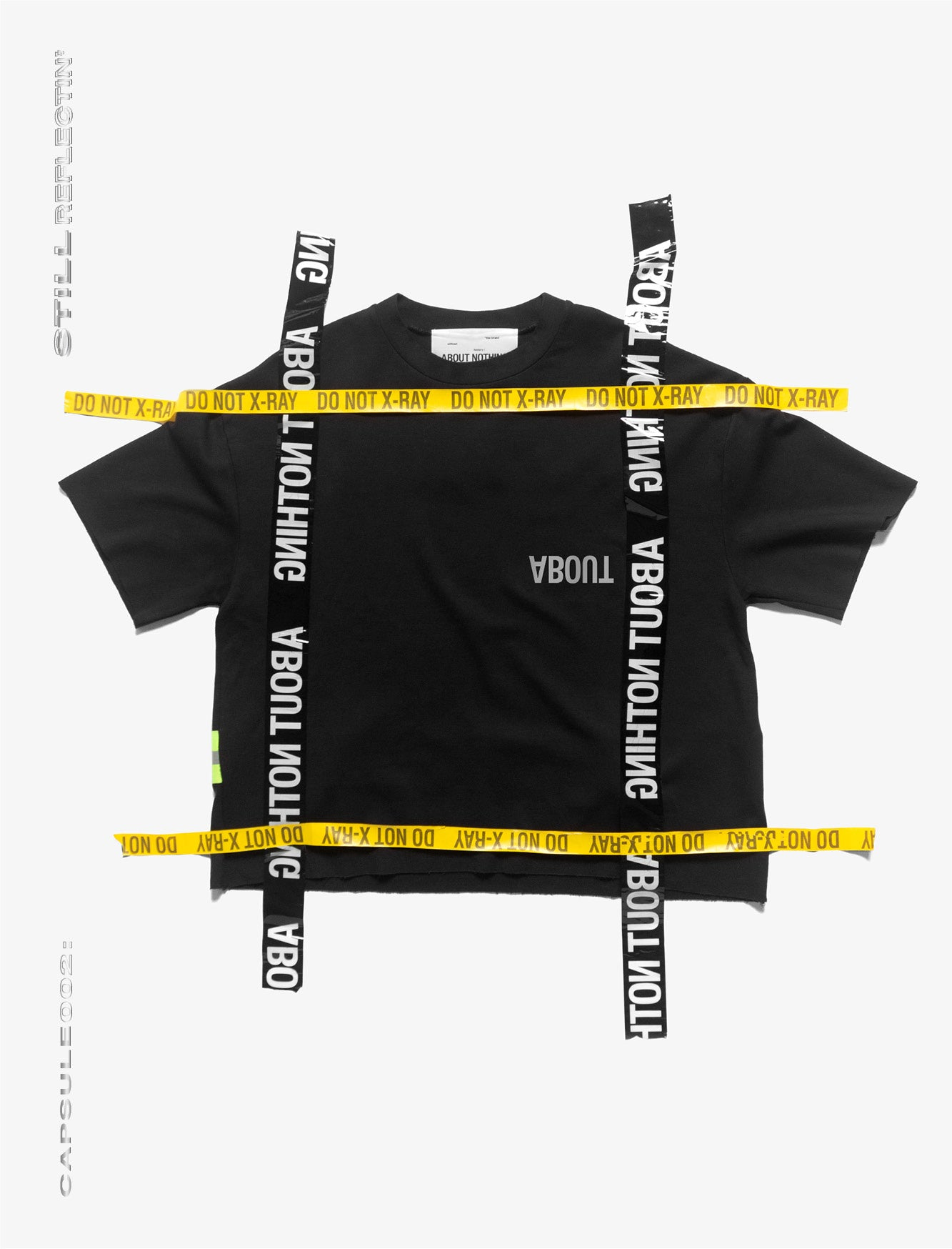 OVERSIZED T_SHIRT // NEON REFLECTIVE STRAP [BLACK]
