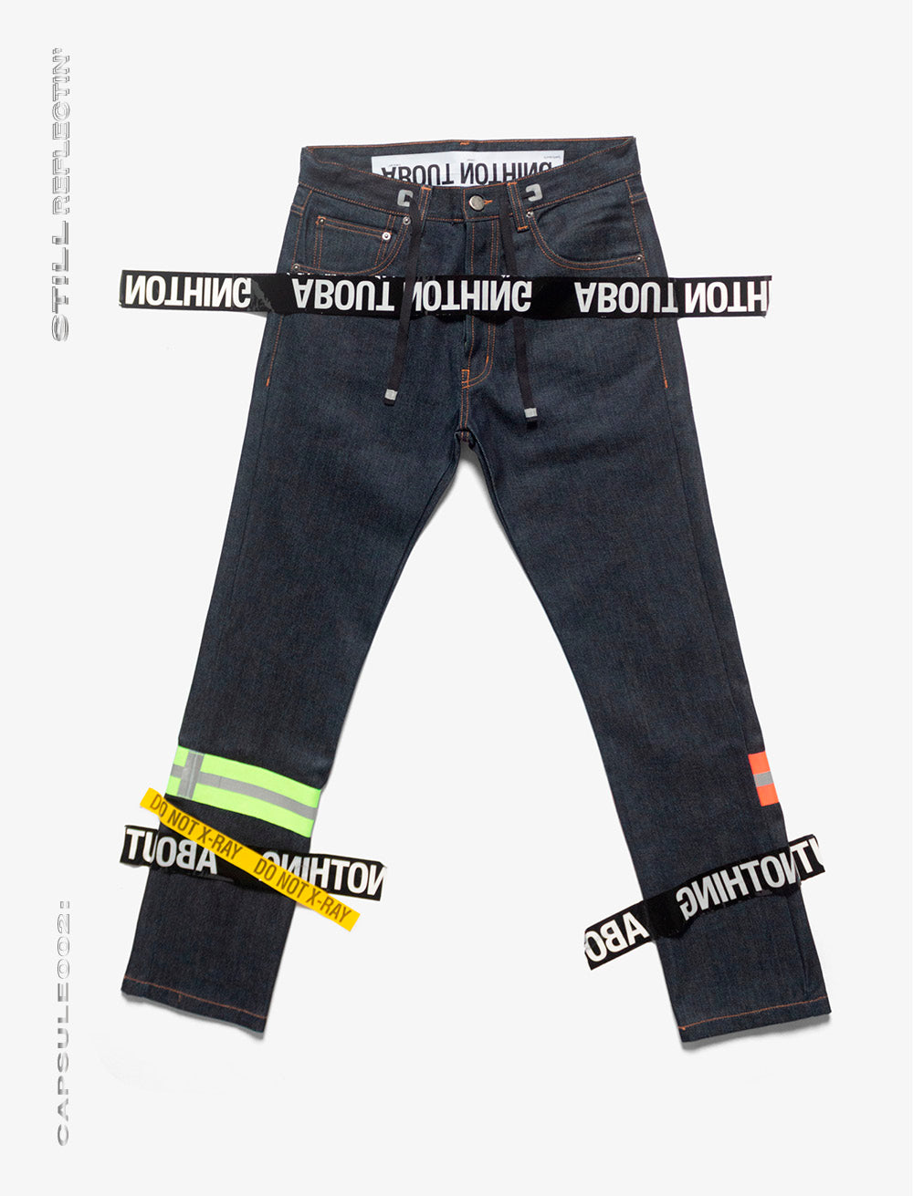 JEANS [RAW]  // NEON REFLECTIVE STRAP BOTTOM