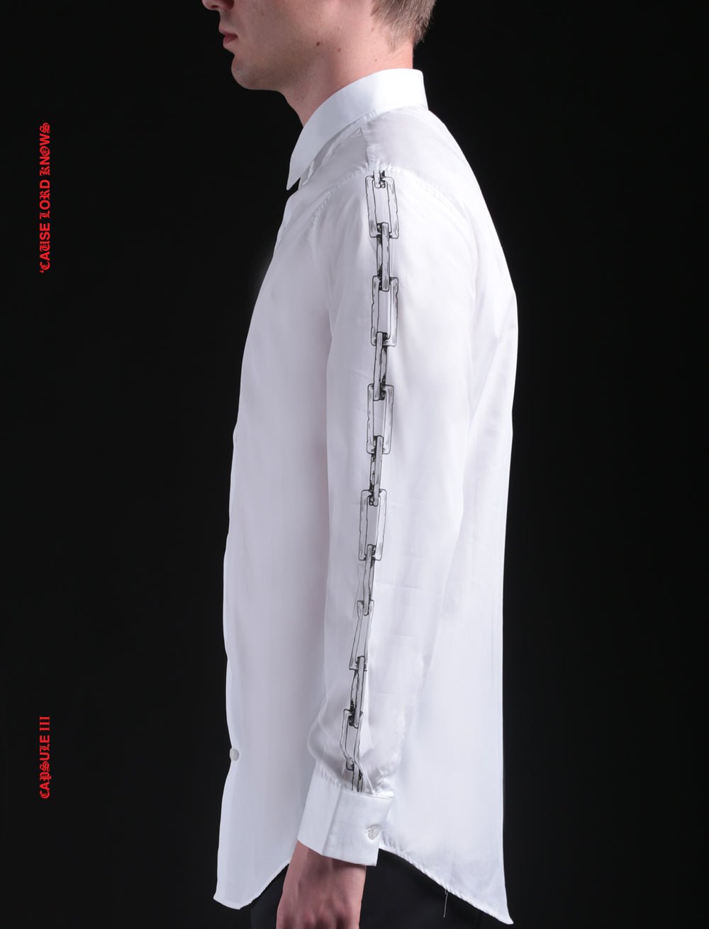 SHIRT // CHAINS SLEEVE [WHITE]