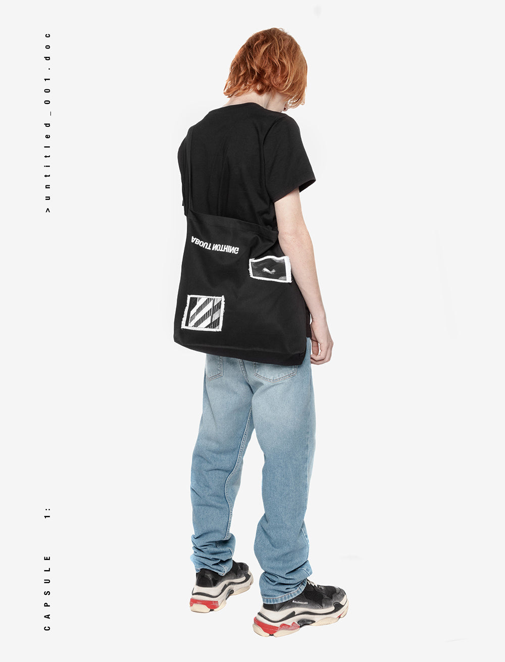 EYES AND SURROUNDINGS TOTE BAG / REVERSE LOGO