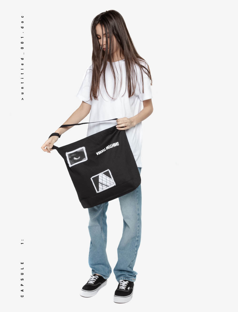 EYES AND SURROUNDINGS TOTE BAG / REVERSE LOGO TOP
