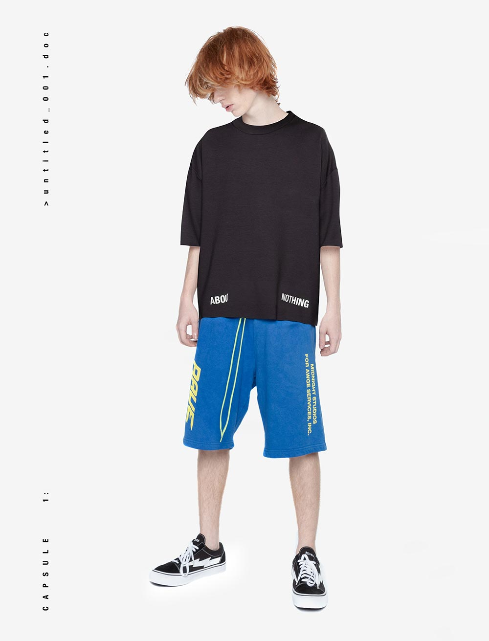 HEAVY OVERSIZED T_SHIRT   LOGO BOTTOM [BLACK]