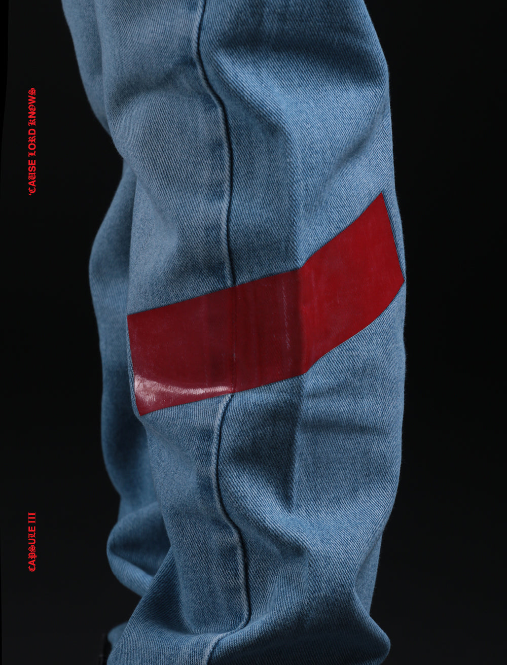 JEANS // DEATH BACK + RED SIDE TAPE