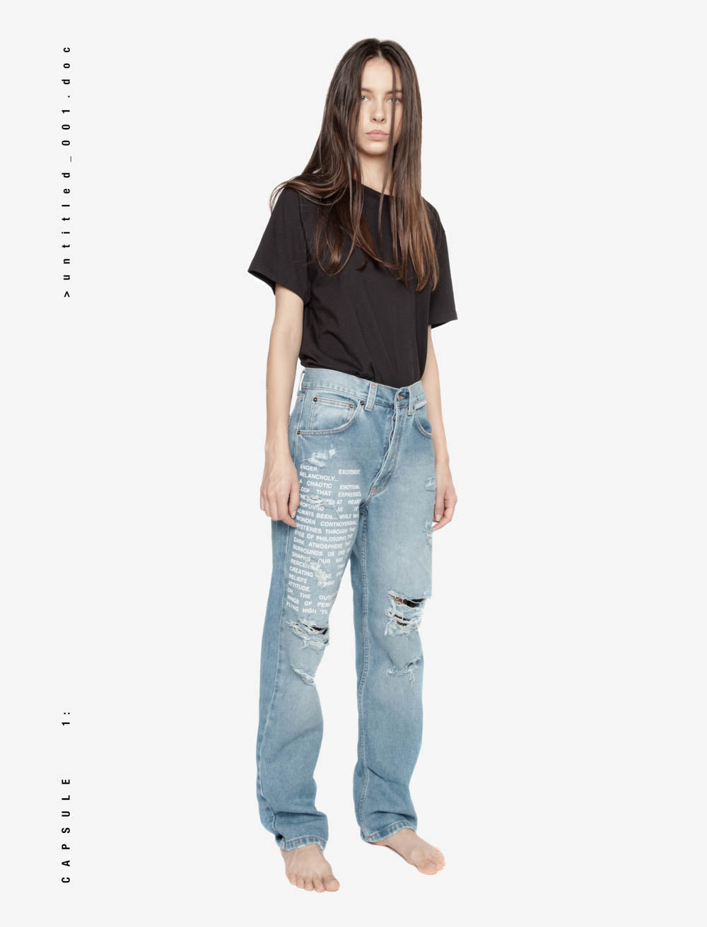 YOUTH MANIFEST FRONT DISTRESSED DENIM