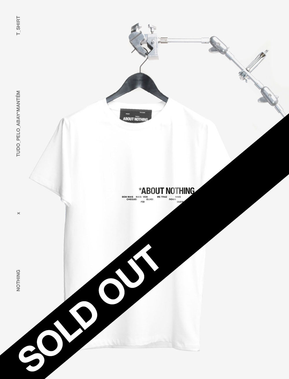 ABOUT NOTHING x TUDOPELOABAY *MANTÉM T_SHIRT [LETTERING]
