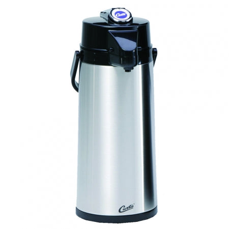 2.2L SS EXTERIOR/GLASS LINER AIRPOT WITH LEVER HANDLE