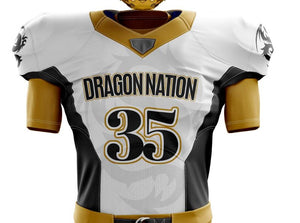 White Football Jersey (black numbers)