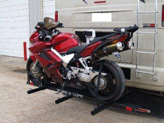 Rv Motorcycle Lift Freedom Trailers Usa