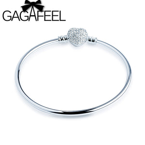 DIY Bangle Pave Heart CZ