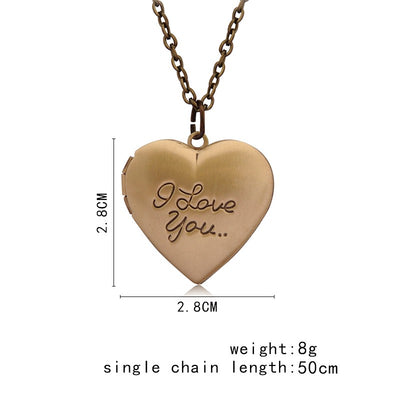 """I Love You""  Heart Lockets"
