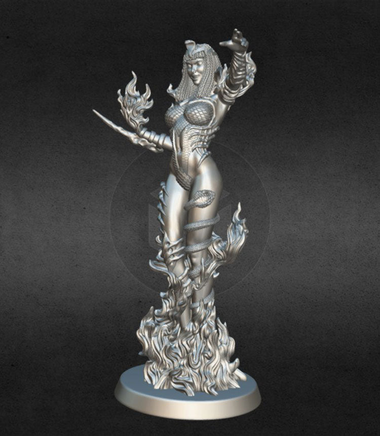 Fire Witch 3D Printed Model Stl