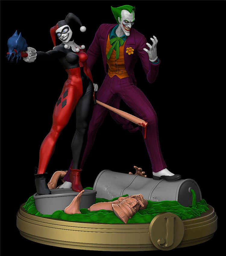 Joker and Harley Queen 3D Printed Model Stl