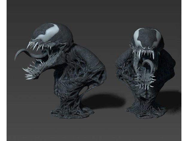 Venom Bust 3D Printed Model Stl