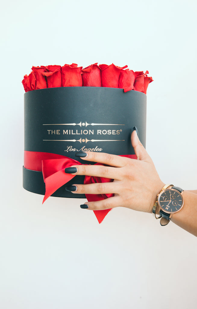 Luxurious watch and roses valentine