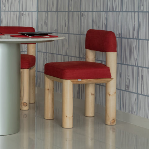 The lollipop dining chairs are upholstered modern wooden dining chairs