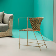 Cane Wire Curve Chair