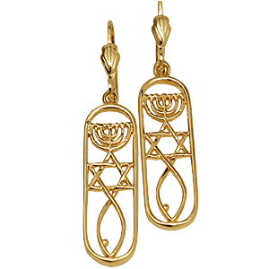 Earrings Gold filled Grafted In within Rounded Rectangle