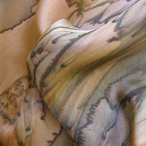 Scarf Brown Galilee Silk
