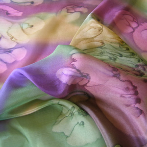 Scarf Muted Rainbow Galilee Silk