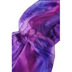 Scarf Purple Galilee Silk