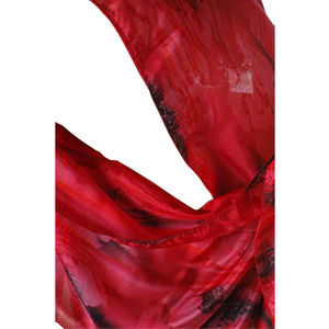 Scarf Red Galilee Silk