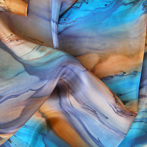 Scarf Earth & Water Galilee Silk