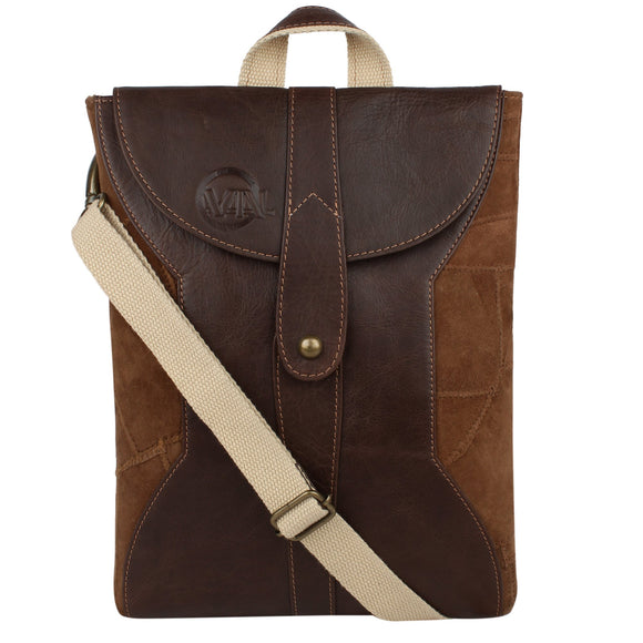 Axel - Brown (One Stud) Cross Body Bag