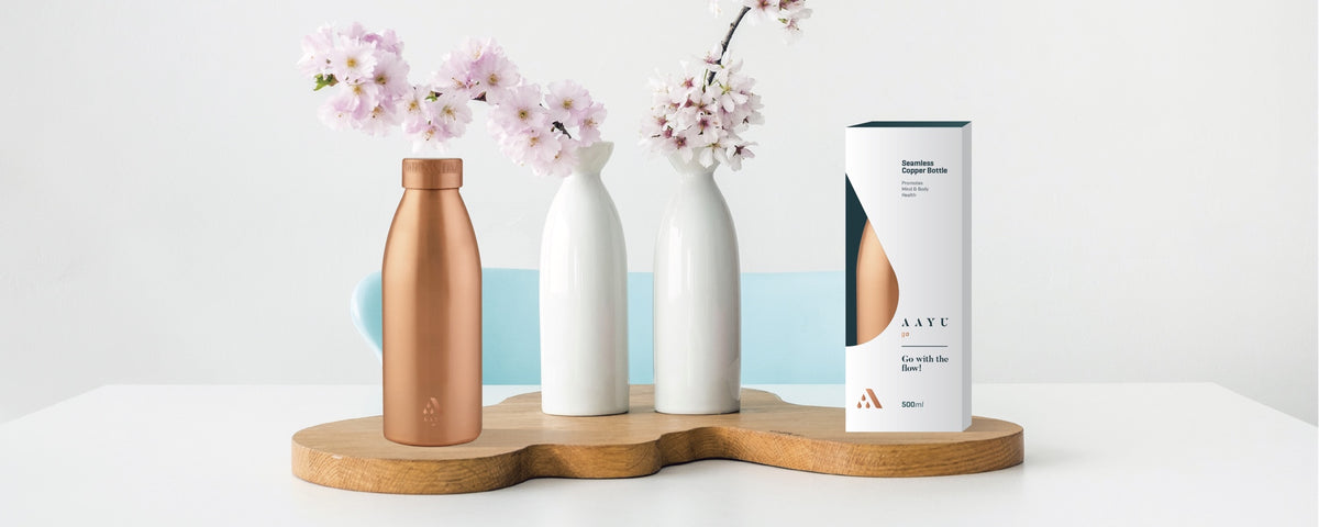 Aayu 100% Pure Copper Bottles