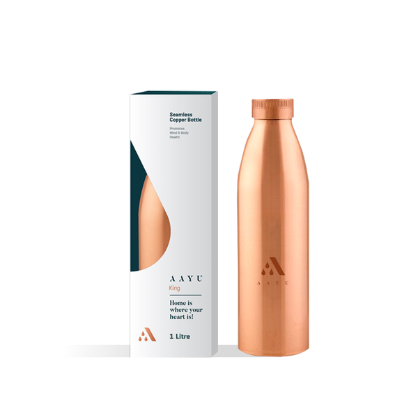 Aayu king 1ltr Copper Bottle