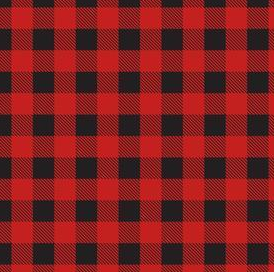 Red and black gingham print
