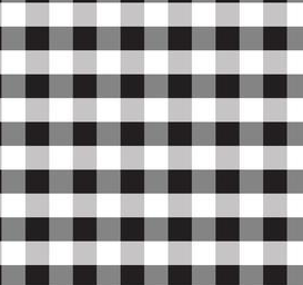 white and black gingham print